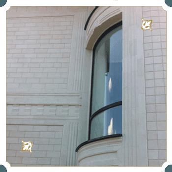 радиусные окна дом