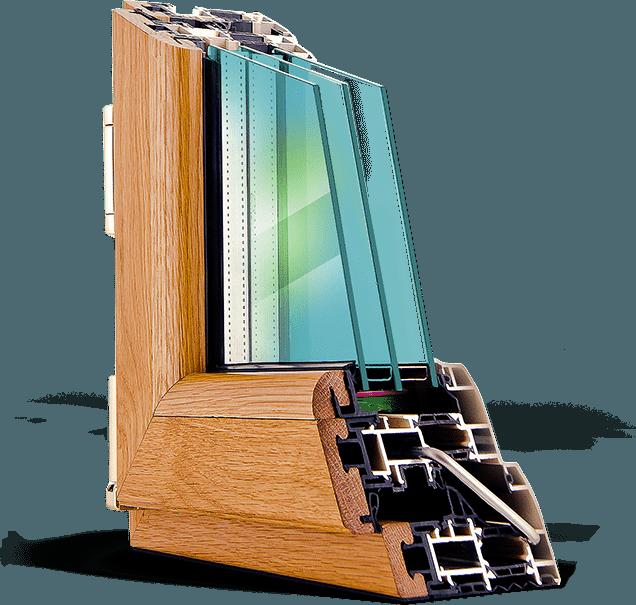 Алюмо-деревянные окна